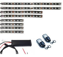 8pc MultiColor Motorcycle Lighting Neon Body Engine Glow Light Strips Kit