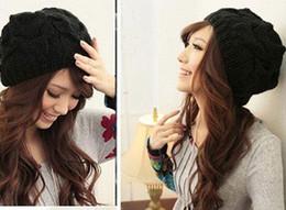 Wholesale Color de la mezcla Envío Gratis Cheapest invierno de las mujeres de esquí sombrero Chica Hip Pop punto de ganchillo Beanie Cap tejer sombrero