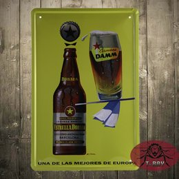 Wholesale beer tin signs wall decor hang picture for house office restaurant bar paiting