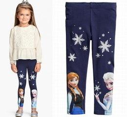 Children's suit Frozen princess long sleeve leggings and T shirt two pieces clothing sets for girls Children Clothing Frozen Cartoon Outwear