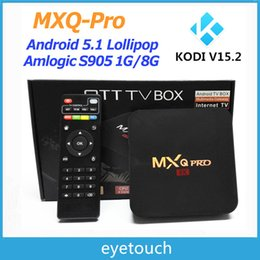 Wholesale 2016 New MXQ PRO K Amlogic S905 K Quad Core TV BOX Kodi Android GB GB Smart TV Player Air Play Miracast