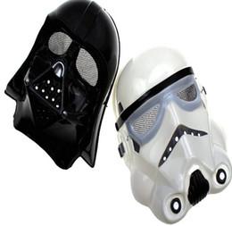 100pcs New Halloween Festival horror mask Star Wars the Darth vader mask Black , White DHL Fedex Free shipping