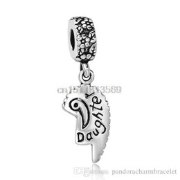 New Genuine Pendant 925 Sterling Silver European Bead Charm Daughter Letter Best Jewelry For Snake Bracelet Chain Free shipping