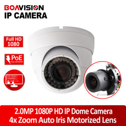 Wholesale H HD P MP CCTV Dome IP Camera Outdoor Waterproof Network With PoE Port x Zoom Auto iris Motorized Lens IR m Night Vision