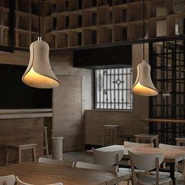 Wholesale LOFT Nordic Vintage Pendant Light Individuality Art Bar Cafe Iron Cement Speaker Lamp Dinning Room Pendant Light Dia cm
