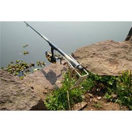 Compra Online Caña de pescar en venta-CALIENTE NUEVA venta Pesca Rod poste Soporte Práctico de acero inoxidable herramienta de la pesca sostenedor del soporte doble orden de Primavera automático ajustable tra $ 18Nadie