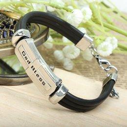 Factory wholesale European and American Jewelry Bracelet Christian God (God Bless) bracelet bracelet wholesale Valentine's Day Gifts