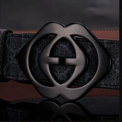 Wholesale 2014 new hip brand buckle G designer belts for men women genuine leather gold cinto belt Men s chalk L