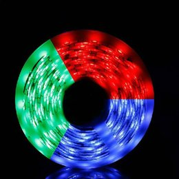 Wholesale Color Led Strip Water Proof - 10 Meters Spool 300 LEDs SMD5050 Non Water-proof Flexible Ribbon LED Strip RGB Color Changing Light,Christmas Lamp,Free Shipping order<$18no