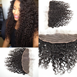 Wholesale 10A beyonce curl deep curly wave virgin human hair lace frontal Non processed top closure