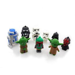 Wholesale Star wars Cartoon Darth Vader R2D2 Robot Yoda USB GB GB GB GB flash drive memory stick pendrive Box