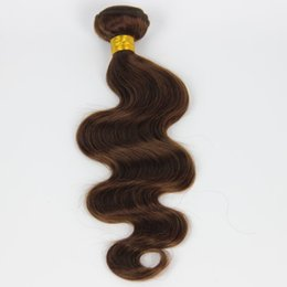 Peruvain Medium Brown Hair Body Weave Bundles 4# Brown Hair Extensions 12-24'' Peruvian Brown Body Wave 1PCS Hair Weft