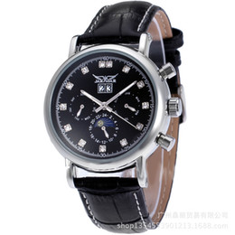 Mens fashion JARAGAR watches Luxury watch mechanical Diamonds dial Leather watches JR27