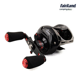 9BB+1RB Baitcasting fishing reel bait casting reel black embellished with red low profile baitcaster reel lure fishing wheel free shipping
