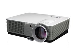 Wholesale-Free shipping LED Projector Full HD 2000 Lumens Support Data Show TV Video Games Home Cinema Theater Video Projector HD 1080P