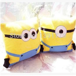 Wholesale High Quality x35cm Creative Cartoon Minion Despicable Me Pillow Plush Cushion Pillow For christamas childrens Gifts