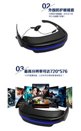 Wholesale Video Glasses Inch HD Portable P Virtual Screen GB World lightest mobile theater Video Glass Portable Eyewear Virtua