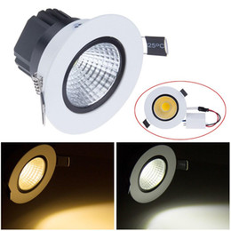 Dimmable 6W 9W 12W 15W Recessed LED COB Ceiling Downlight Cold White Warm White Light Lamp AC110V 220V For Indoor Lighting