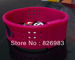 Wholesale Silicone Breast Cancer Bracelets Wholesale - Wholesale-20pcs lot Free Shipping Fashion BREAST CANCER AWARENESS - WIDE Energy Power Silicone Wristband Bracelets silicone bands rose red