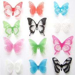 Wholesale Hot sale DIY D Butterfly Wall Stickers Creative Art Decal PVC Bedroom Home Decor