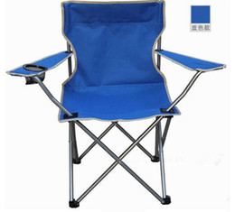 Wholesale Large Outdoor Folding Chair Fishing BBQ Camping Beach Portable Garden Chairs with armrest and backres camp furniture