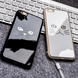 funny cute cat face Couple Phone Protect Back case Cover Cellphone Case For iPhone6 6 Plus
