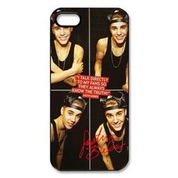 Wholesale Yark Super Star Cool Boy Justin Bieber Hard plastic mobile phone bag Case Cover for iphone s s c plus