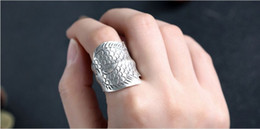 Personality fashion ring pure silver&thai silver for men or women rings free shipping SJZ-028 High 2.8cm weight 8.13g