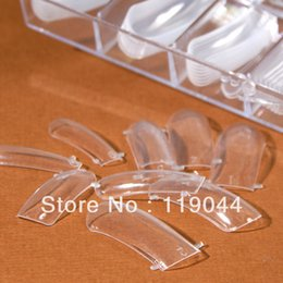 Wholesale set Clear Dual Form Nail System For UV Gel Acrylic Nail Mold Artificial Nail Tip Box NA300