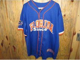 Wholesale 30 Teams Florida Gators Baseball Jersey College Equipment Colosseum Athletics Baseball Jersey Men s Stitched Throwback Baseball Jersey