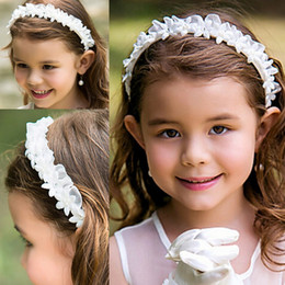 Flower Girl Headbands Toddler Head Flowers Hair Accessories Chiffon Hand Sewing Good Beautiful Girls Headbands Headwear Kids Hair Bands