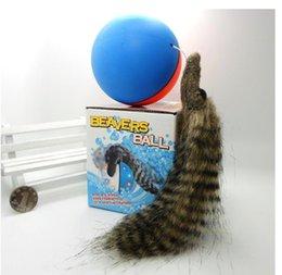 Wholesale New electric water nutria beaver balls amphibious Swim head the ball Children s toys luminous sound Toy animals