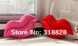 Free shipping cute plush sexy red lip pillow Sofa bed car cushion pillow,55*28cm