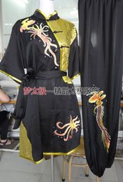 Wholesale-The new Wushu short sleeved clothes embroidered with the belt of multicolor optional performance clothing #812