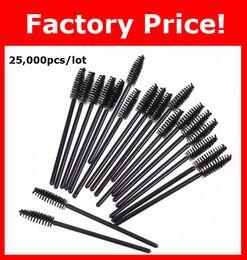 Wholesale NEW Black Disposable Eyelash Brush Mascara Wands Applicator Makeup Cosmetic Tool
