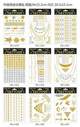 Wholesale Metalic Tatoos Gold MetallicTemporary Flash Tattoos Sex Products Henna Metal Bling Tatouage Body Paint Stickers