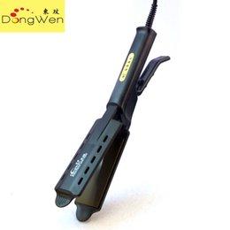 La mandíbula para el cabello en venta-Suministro DW-688 plancha de pelo placas de titanio mandíbulas de cocodrilo férula eléctrica de doble uso recta para no lastimar el cabello