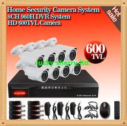 Wholesale CIA CH DVR System outdoor IR CUT Weatherproof Surveillance CCTV Camera Kit tvl Home Security digital network DVR video System
