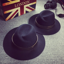 Wholesale 2015 British style temperament scale sequins m Australian Wool fedora Hat Korea version character Chao fan wool