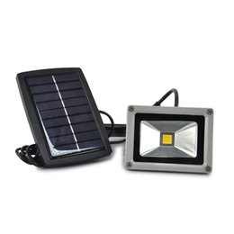 Wholesale Solar Power Led Outdoor Flood - 10W Solar Power LED Flood Night Light Garden Spotlight Waterproof Outdoor Lamp
