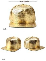2017 sombreros de béisbol en blanco snapback Gorra de béisbol ajustable del bboy de Hip-Hop de los hombres unisex de los sombreros del Snapback de la llanura del cuero de la PU caliente sombreros de béisbol en blanco snapback Rebaja