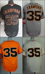 Wholesale San Francisco Brandon Crawford Jerseys SF Baseball Jersey W Champion Path Stitched Name Lettering
