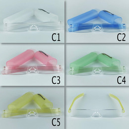 Plastic Tube Reading Glasses Clic Reading Power Lens Mixed 4 Colors Free Shipping With 20pcs lot