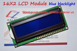 Wholesale LCD1602 module Blue screen x2 Character LCD Display Module HD44780 Controller blue blacklight