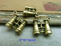 Wholesale 60 Binocular Charms Antique Bronze Tone Telescope Charms Lovely D Binoculars Pendants mm For Jewelry