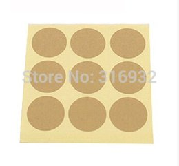 E2 Christmas kraft paper solid blank round seal sealing sticker baking package cake box decoration 450pcs lot