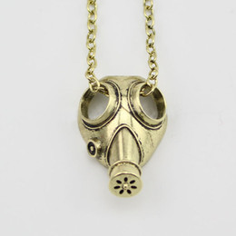 Wholesale 2015 New Fashion movie jewelry Doctor Who anti silver steampunk apocalypse gas mask pendant necklace Statement Necklace