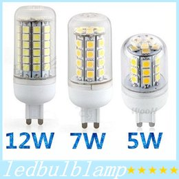 G9 SMD Led 5W 7W 12W bulbs lights with transparent cover E27 GU10 led spot lights warm cool white 360 angle 110V 220V