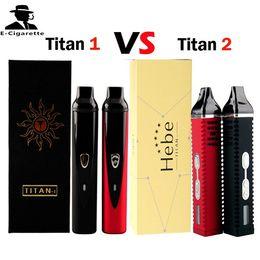Titan 1 Vaporizer Titan 2 Dry Herb Vaporizer Pen Titan1 Ttian2 Herbal Wax Pens Vape Pens 2200mAh Battery VS IPV D2 CoolFire IV