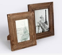 Wholesale Wood Photo frames Solid wood walnut veneer picture frames home decoration Retro Antique Finish